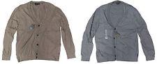 Armani Exchange A/X Mens Striped V Neck Button Down Cashmere Cardigan Sweater