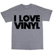 I Love Vinyl T-Shirt 100% Cotton DJ Collector House  Techno MP3