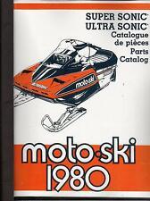 VINTAGE 1980 MOTO-SKI SNOWMOBILE ULTRA & SUPER SONIC MANUAL