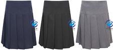 Kids Girls Women School Uniform All Round Pleated Skirt Britini Back Zip