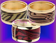 Brillante Retro Grueso Anchura Cebra Tigre Estampado Animal Contraste Color