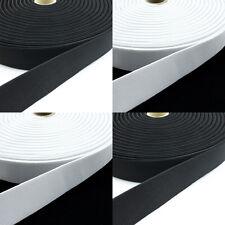 5 Meter Gummiband 10, 15, 20, 25, 30, 40, 50 mm breit weiß , schwarz Neu + OVP