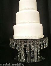 PIOGGIA Goccia Cristallo Supporto per Torta per torte nuziali in chiaro, bianco o oro cristallo