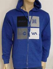 RVCA Multiply Mens Blue Fleece Zip Hoodie Sweatshirt Jacket NWT NEW
