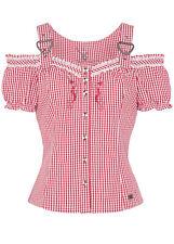 Spieth & Wensky - Damen Trachten Bluse kariert, Karibik (320640-0948)