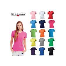 T-SHIRT DONNA STEDMAN ST2600 GIROCOLLO  MANICA CORTA 100% COTONE