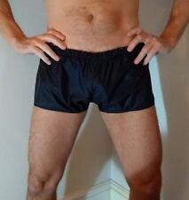 Azul Negro Suave Impermeable Nailon fútbol o Hipster Pantalones Cortos (todos los tamaños XS a 3XL)