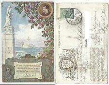 bella cartolina  don bosco centenario maria ausiliatrice pius VII e X 1915 sped