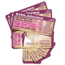 Einladung zur Hochzeit • Eintrittskarte • Ticket • Karte • Einladungskarten