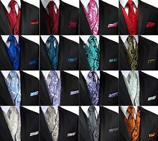 XS - 6XL. Italian Design. Paisley Tuxedo Vest, Tie and Hankie Set.