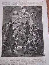 Gravure 1860 - Un Guet Apens Royal