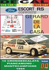 DECAL FORD ESCORT RS COSWORTH G. DE LA CASA PIANCAMUNO 1994 (10)
