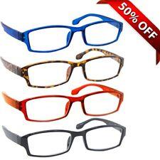 NEW Reading Glasses | 4 Pack | Black Tortoise Blue Red | Flex Hinges