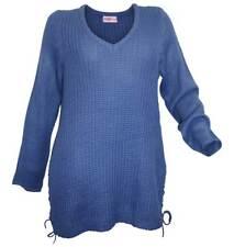 SHEEGO Damen Pullover jeansblau GR. 44 46 48 50 52 54 56 58 NEU - P129