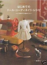 MY FIRST DOLL COORDINATE RECIPE DRESS BOOK - Japanese