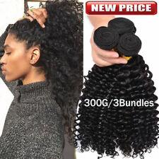 24 26 28 Deep Wave Bundle Weft Brazilian 8A Virgin Human Hair Wavy Curly 100G US