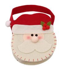Children Christmas Cloth Mini Santa Claus Gift Bag Candy Holder SA