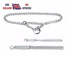 Semi Choke Chain Collar Metal Chrome Training Chain 1 Row 7 Sizes