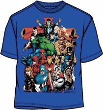 Marvel Comics Team-Ups Brazen Heroes Blue Adult  T-shirt