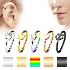 Nasenpiercing Universal Rook Daith Ohr Piercing Ring mit Motiv Chirurgenstahl