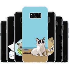 Dessana cómic gatos de silicona, funda protectora, funda, móvil, funda cover para Samsung