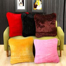Fluffy Faux Fur Plush Throw Pillow Cases Shaggy Soft Chair Sofa Silky Cushion