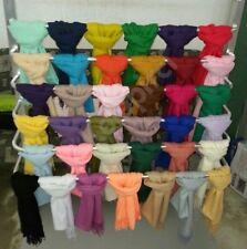 UNISEX Jersey Damen Herren Schal Crinkle Tuch Knitter Optik Crash Uni Farben ver
