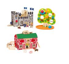PLAYTIVE JUNIOR Ritterburg Bauernhof Kugelbahn Holzspielzeug Kinderspielzeug