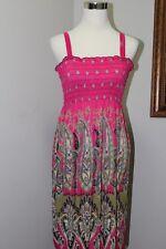 NEW Lati Fashion Multicolor Pink/ Green Paisley Print Dress Swim Cover Jr.  XL