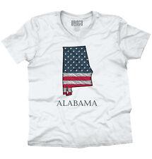 Alabama State Pride American Flag USA Patriotic Gift Ideas V-Neck T-Shirt