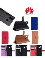 NUOVO Huawei p Smart/P30 LITE/P20 PRO Y6 2018 FLIP PORTAFOGLIO IN PELLE STAND CASE COVER