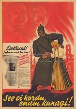 Vintage German Estonia WW2 Canvas or Poster Print IT WILL NEVER HAPPEN AGAIN!