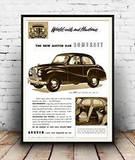 Austin A40 Somerset : Motoring advertising poster reproduction.