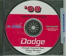 1968 DODGE CHARGER/CORONET/DART SHOP/BODY  MANUAL ON CD