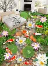 3D Blume Fisch Wasser 961 Fototapeten Wandbild Fototapete Bild Tapete Familie