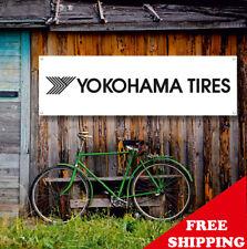 YOKOHAMA Tires Banner Vinyl or Canvas Advertising Garage Sing Poster MANY SIZES