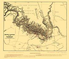 Topographical Map Print - Grand Canyon Arizona - Underwood 1904 - 23 x 26.66