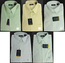 New Mens Club Room Regular Fit Short Sleeve Cotton The Estate Dress Shirt