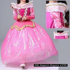 Aurora Vestito Bambina Carnevale Maschera Princess Girl Cosplay Costume AURDIR02