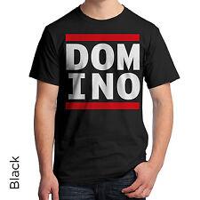 DOMINO  Graphic T-Shirt 80's Retro Shirt DJ Music Urban Hip Hop