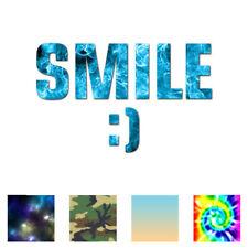 Smile Smiley Face - Vinyl Decal Sticker - Multiple Patterns & Sizes - ebn1610