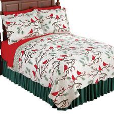 Winter Cardinals Christmas Quilt Bedding