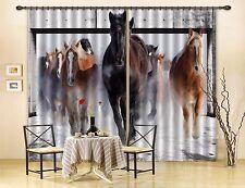 3D Horses 73 Blockout Photo Curtain Printing Curtains Drapes Fabric Window AU