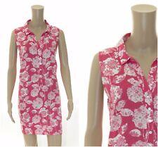 ex White Stuff Strawberry Pink Blooms Tunic Shirt Dress