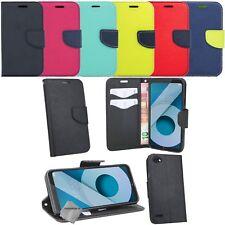 Housse etui coque pochette portefeuille pour LG Q6 + film ecran