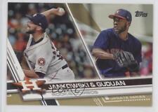 2017 Topps Update Series Gold US297 Reymin Guduan Jordan Jankowski Baseball Card