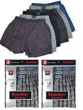 New 6 Mens Boxers Plaid Shorts Underwear Lot Cotton Briefs Pairs Pack Size S-3XL