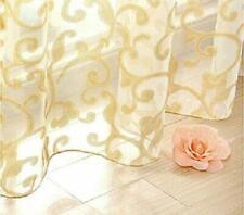 Transparent Organdy Sheer Curtain Sliding Glass Door Drape Golden Thread 1 Panel
