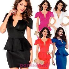 minirobe robe volant femme robe costume moda neuf minirobe DL-779