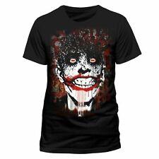 Batman Arkham Joker T Shirt Official DC Comics Bats Print Black NEW S M L XL XXL